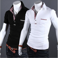 Men Polo Bussiness Casual Tee 2013 new arrive Summer casual short sleeve men's t shirts Plaid men's t-shirts polo shirts 2634