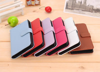 Wholesale 100pcs Walllet Skin Leather Stand Case Grid Inside Cover With Credit Card Slot For Blackberry Z10