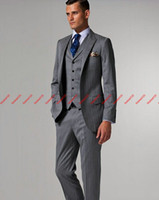 Wholesale Perfect suits Groom Tuxedos Best Man Suits Prom Clothing jacket pants vest tie AA