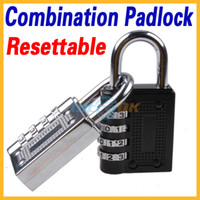 Wholesale New Resettable Combination Padlock Secret Code Lock Easy Set Black White