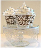 Wholesale 100pc Cupcake wrappers cup cake art fence white iron E