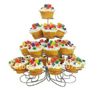 Wholesale 1pc New Cupcake Stand Tree Holder Muffin Serving Birthday Cake Cup Party Tier C