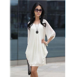 2017 Hot fashion Summer Women Dresses white chiffon Party Dress Bohemian Korean half sleeve Casual princess dress