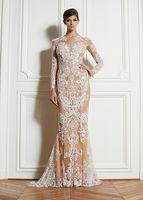 Zuhair Murad Formal Dresses 2013 Sexy Long Sleeve Lace Sheat...