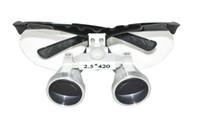 dental   Black Dentist Dental Surgical Medical Binocular Loupes 2.5X 420mm Optical Glass Loupe