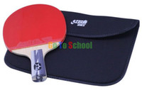 Wholesale DOUBLE HAPPINESS DHS SHORT HANDLE TABLE TENNIS RACKET STARS PING PONG PADDLE PENHOLD GRIP