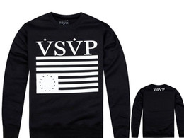Wholesale VSVP supply Hoodie Hooded cotton S M L XL XXL Long sleeved Hiphop sweatshirts Round neck Black grey