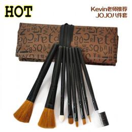 Wholesale 8pcs set Cosmetic Brushes Makeup Brush Tools Ecotools With Dedicated Bag JOJO Travel Retail