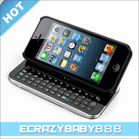 Wholesale New Detachable Sliding amp Standing Wireless Bluetooth Backlight Keyboard Case Cover Skin for iPhone