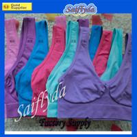 Polyester bras - Wholesales Sexy Underwear Seamless Ladies ahh Bra Sizes Sport Bra