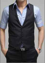 Wholesale Custom Design Size and Color Groom Groomsmen Vests Men Bridegroom Best Man Waistcoat M173