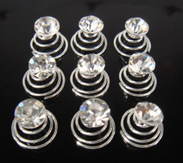 New arrive Hot 100Pcs Crystal Color Wedding Clear Crystal Hair Twists Spins Pins Hair Jewelry Accessories For weomen