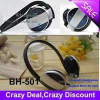 Wholesale 2013 New Arrival Portable USB Bluetooth Stereo Headset BH MP3 Headphones Support Micro SD Card
