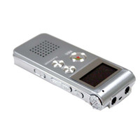 Wholesale 650hr Digital Voice Telephone Recorder MP3 WMA Mic USB Digital Voice Recorder EG34 gray freeshipping