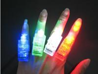 Wholesale 100pcs LED finger lamp Light flashing finger light Optical finger light finger lamp