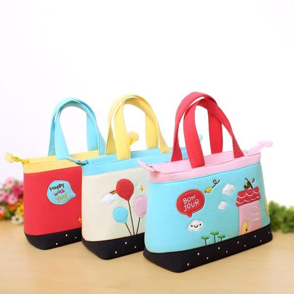 Outdoor Handbag Cloth Cartoon Fashion Leisure Package Lunch ...