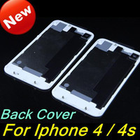 Wholesale Back Cover for iPhone s Glass Battery Door Housing Replacement Repair Parts for Iphone4 Iphone4s