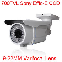 Wholesale 78 IR TVL CCTV Sony Effio E CCD Waterproof Security Camera CCD mm Varifocal Lens With OSD