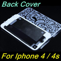 Wholesale Glass Back Cover for iphone G S Battery Assembly Housing Door Replacement Part GSM black white