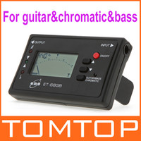 Guitar Clip-on Black LED Digital Electronic Acoustic Bass Guitar Chromatic Tuner with Mic I176 free shipping