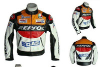Wholesale GP motorcycle REPSOL Racing Leather Jacket motorcross jackets