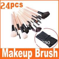 Face Powder Brushes big makeup cases - Big discount Best Seller Makeup Brush Black Leather Case