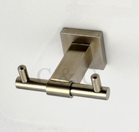 Wholesale Wall Mounted Brushed Stainless Steel Bathroom Double Robe Hooks YS