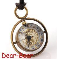 Unisex steel orbit - Copper Glass Ball Mechanical Pocket Watch Planet Orbit Design Skeleton Pocket Watch