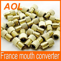 Wholesale presta valve converter Bike Tyre Wheel Valve Stem France mouth converter LED Tyre Light converter