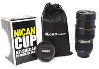 Wholesale Creative Nican Cup Lens Cup Water Coffee Milk Tea Cup Mug Black Per