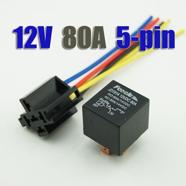 Automotive Auto Relay Pin V DC A Relay Socket With - 5 pin relay socket