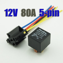 Wholesale 10PCS Automotive Auto Relay pin V DC A amp Relay Socket With Harness CF