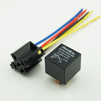 Wholesale 100PCS V DC A Automotive Auto Relays wire amp Relay Socket With Harness SD