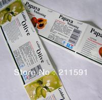 Wholesale Bottle Stickers Labels Cosmetics Adhesive Stickers Self Adhesive Labels Printed Custom Labels Sticker on Rolls