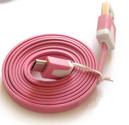 Flat Sync Noodles colorful flatness micro usb cable for samsung nokia LG HTC 1000pcs