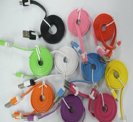 Noodle Flat Color Micro USB Data Sync Charging Cable For SS Galaxy HTC Blackberry Moto Nokia
