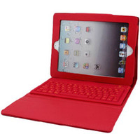 Wholesale High quality Fashion ipad2 PU leather Case silicon Keyboard bluetooth lithium cell colors availabl