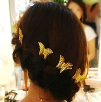 Wholesale 15 off Golden butterfly the classic the hair clasp hairpin bride accessories