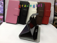 Wholesale Wallet leather stand pouch credit card clip belt purse holder case for Blackberry BB10 Z10