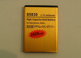 Wholesale High capacity V mah Gold replacement Battery for samsung Galaxy Ace S5830 batteria batteries