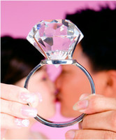 Wholesale DIY piece Good Quality MM Super large Crystal Diamond Ring Wedding Gift Lover Gift Free Shippi