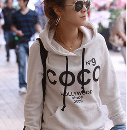 Wholesale New Arrival Women s Coco Printed Hoodies Leasure Sport Pullovers Sweatshirts With Hat