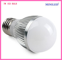 Wholesale Ultra bright E27 W LED Bubble bulb lamp light White Warm White Silver color V V CE ROHS free