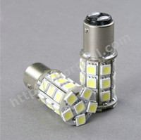 Wholesale 10 piece per SMD LED BAY15D Car Reverse Signal Rear Tail Brake WHITE Light Bulb