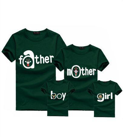 Family fashion summer set spring mother and child clothes for Start an online t shirt business at zero cost