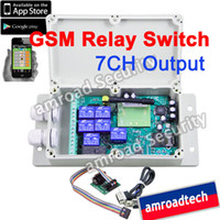 Wholesale APP CONTROL CH GSM SMS Remote Control Relay Output Contacts Switch Box Quad Band AT GR07 by Post