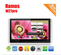 Wholesale 10 quot Quad Core Capacitive Tablet PC Ramos W27Pro android Jelly Bea G CPU G RAM GB Flash HDD