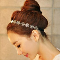Alloy Headbands  fashion Hair accessories metal hollow out go wide hair hoop head hoop with roses
