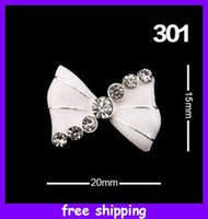Wholesale Hot Sale D Bling Nail Art Bow Tie Alloy Metal D Clear Rhinestones Nail Art Craft DIY Decorations
