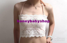 Wholesale Sexy nets yarn bud silk wiping a bosom wrapped chest black white new fashion